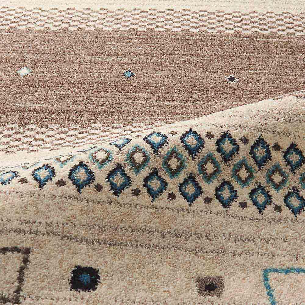 ベルギー製ウィルトン織りラグ〈ジーバ〉 (ウ)ブラウン系