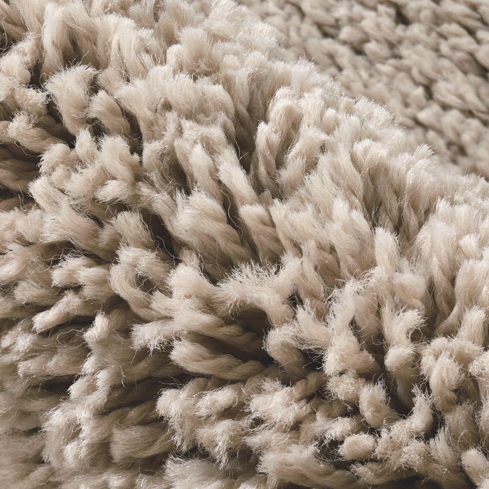 ベルギー製ウィルトン織りマット〈アニュラ〉 (ア)ベージュ系・毛足約35mm