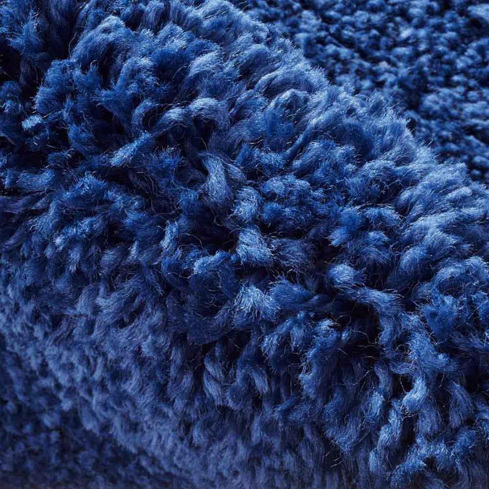 ベルギー製ウィルトン織りマット〈アニュラ〉 (イ)ネイビー系