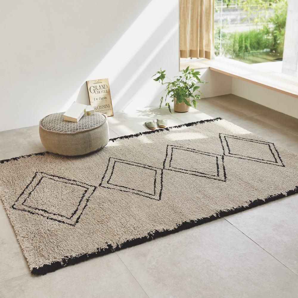 ベルギー製ウィルトン織りマット〈アニュラ〉 (色見本)写真は同シリーズのラグサイズです