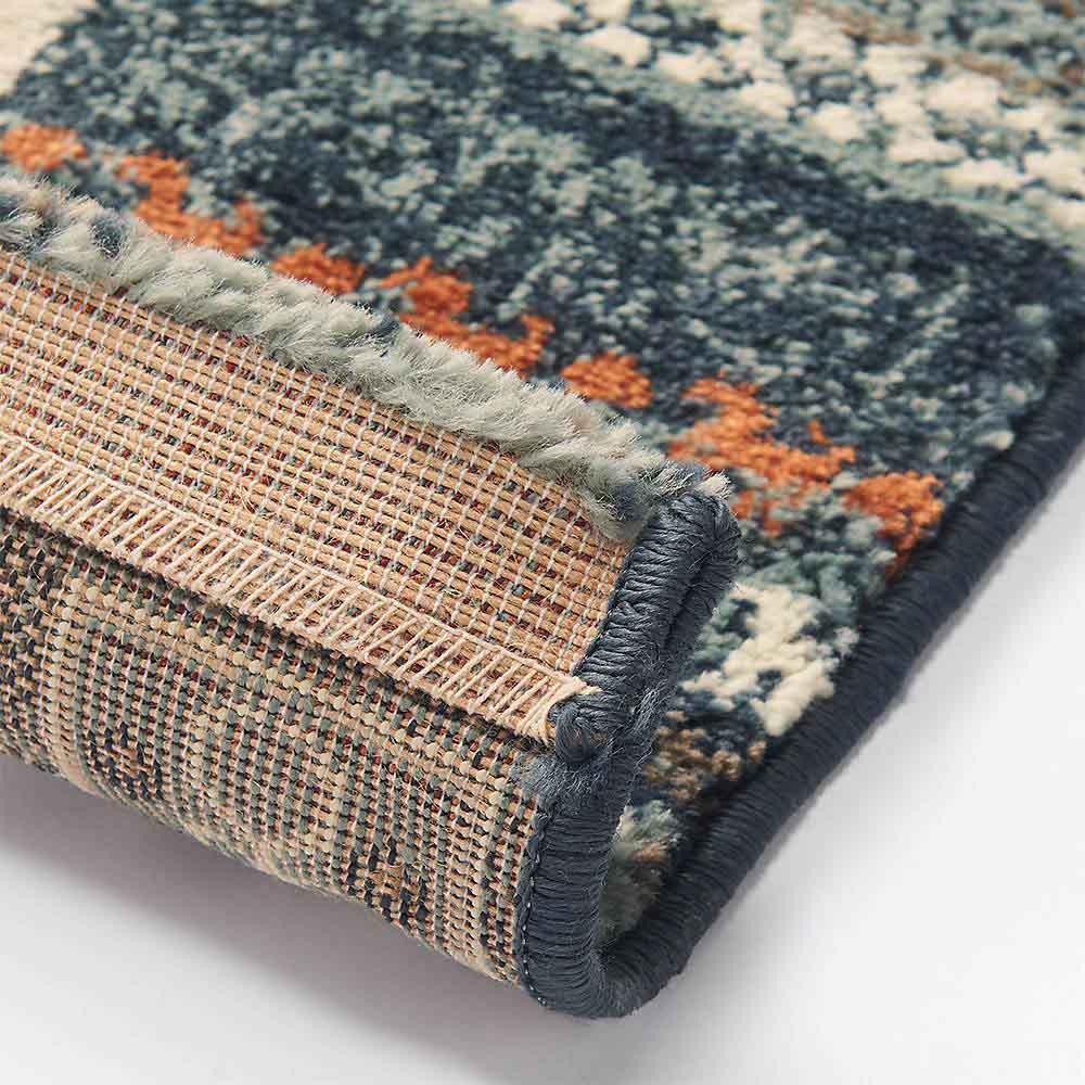 エジプト製ウィルトン織りラグ〈ラピス〉 裏面