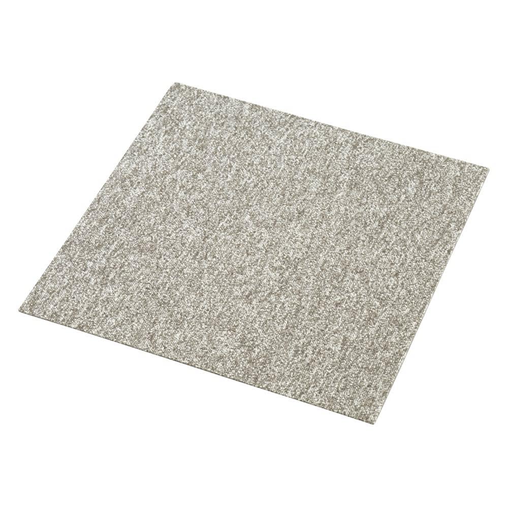 モダンタイルカーペット(約50cm角) 1セット(同色8枚組) (オ)グレイッシュベージュ系