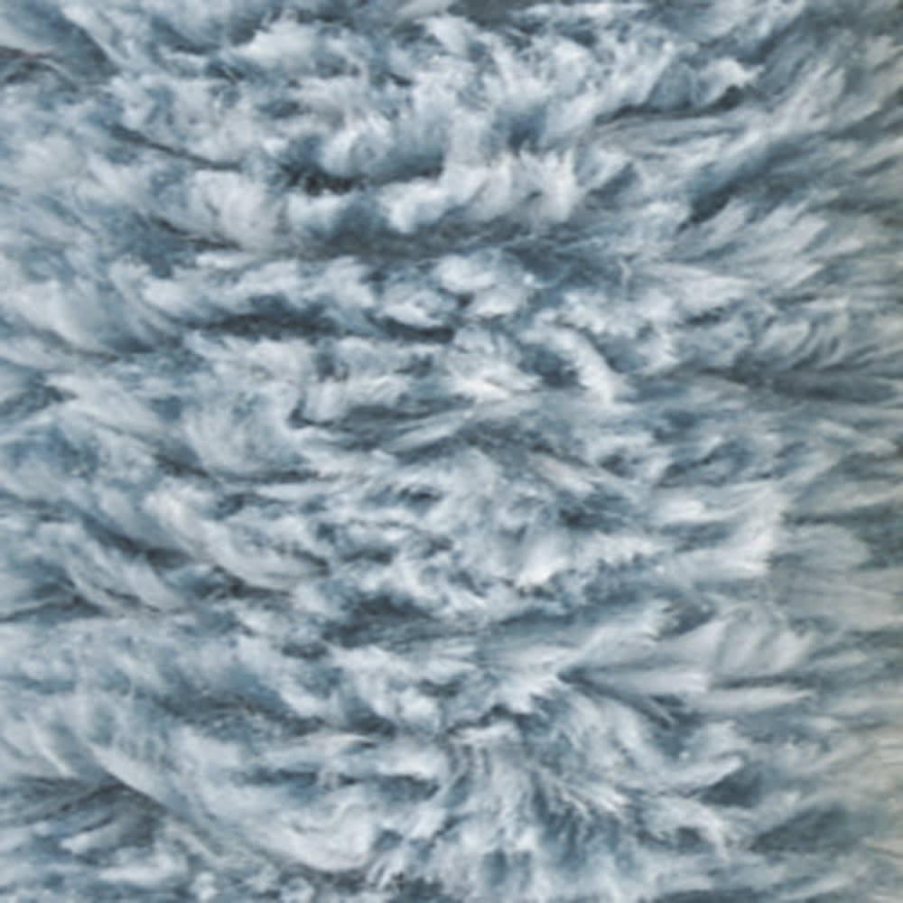 洗える柔らかクッションラグ (ア)ブルー系