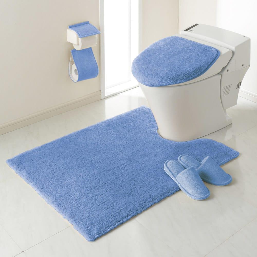 エスタルト トイレマット 特大判マット:(オ)ブルー ※マット単品になります。その他の商品は別売りです。