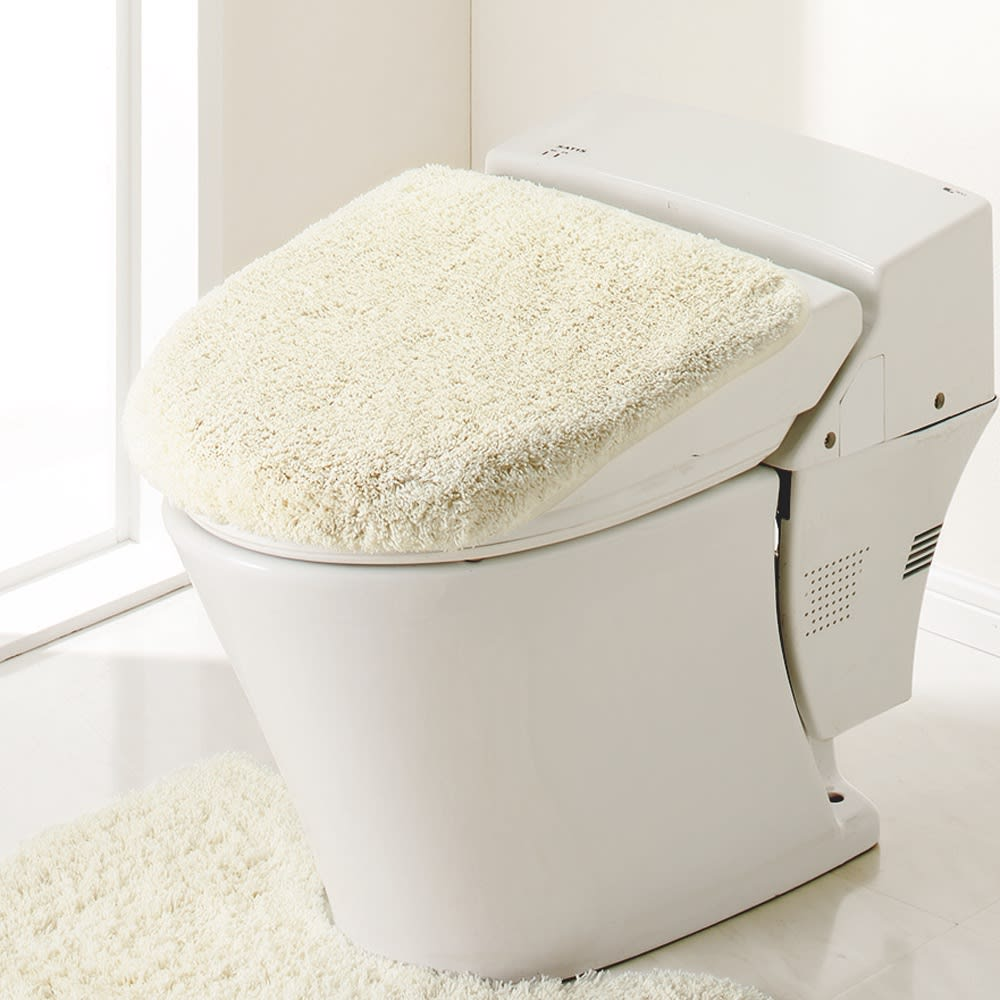 PLYS(プリス)乾度良好トイレタリー フタカバー(洗浄暖房器用) (オ)アイボリー系