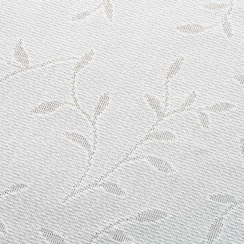 リーフ柄 形状記憶加工 多サイズ・多機能レースカーテン 幅100cm(2枚組) (ア)ホワイト
