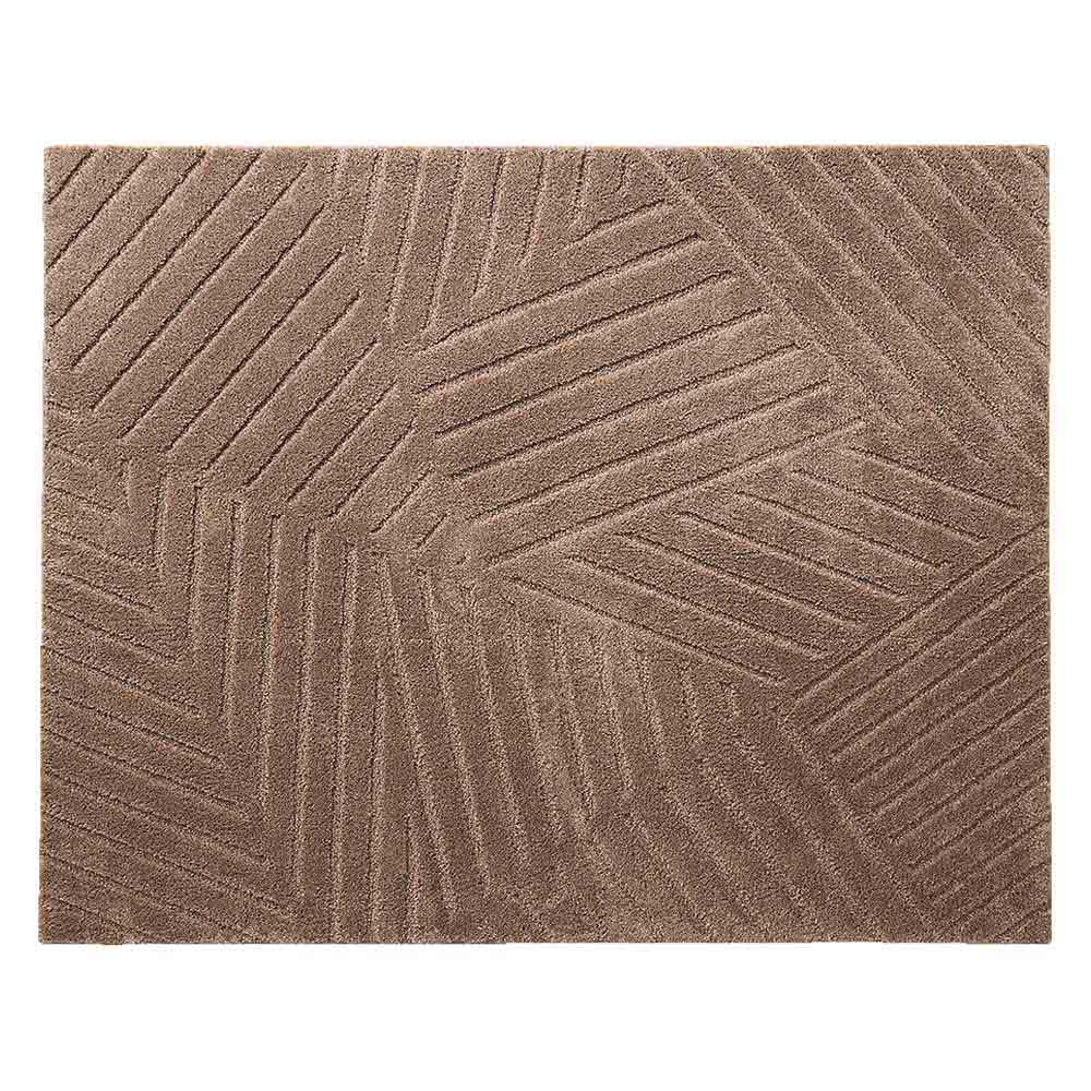 ハイブリッドバック防音ふっくらラグ (イ)ブラウン ※写真は約190×240cmサイズです。
