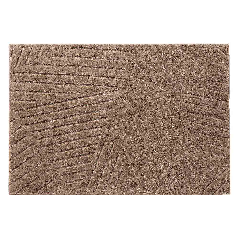 ハイブリッドバック防音ふっくらラグ (イ)ブラウン ※写真は約130×190cmサイズです。