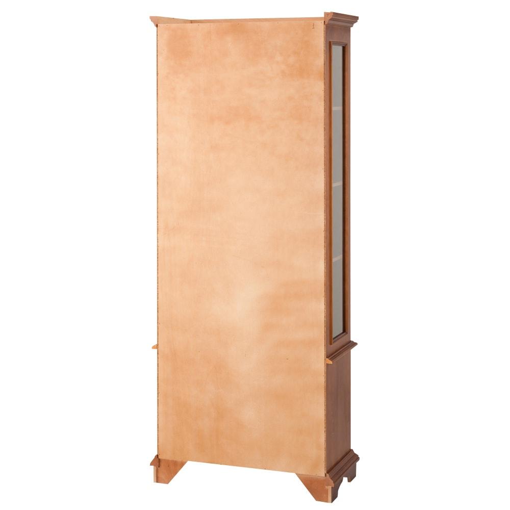 イタリア製クラシック ガラスコレクションキャビネット 裏面は化粧がありませんので、壁付の設置がお勧めです。