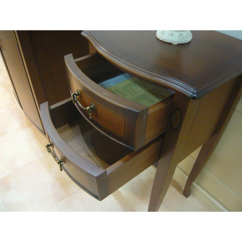 ベネチア調象がんシリーズ フラワースタンド・花台 小引き出し付きで、玄関などのカギや小物の整理に便利。