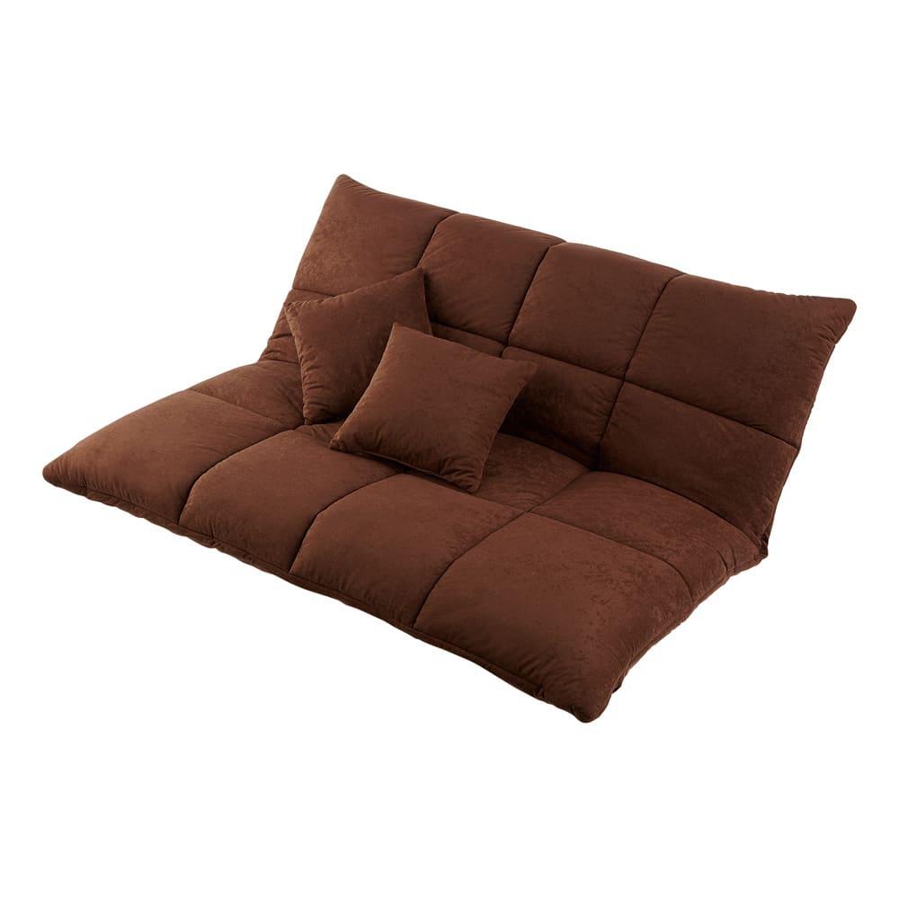 マルチリクライニング コンパクトソファ(座椅子) ハイバックタイプ (イ)ダークブラウン ※写真はスタンダードタイプです。