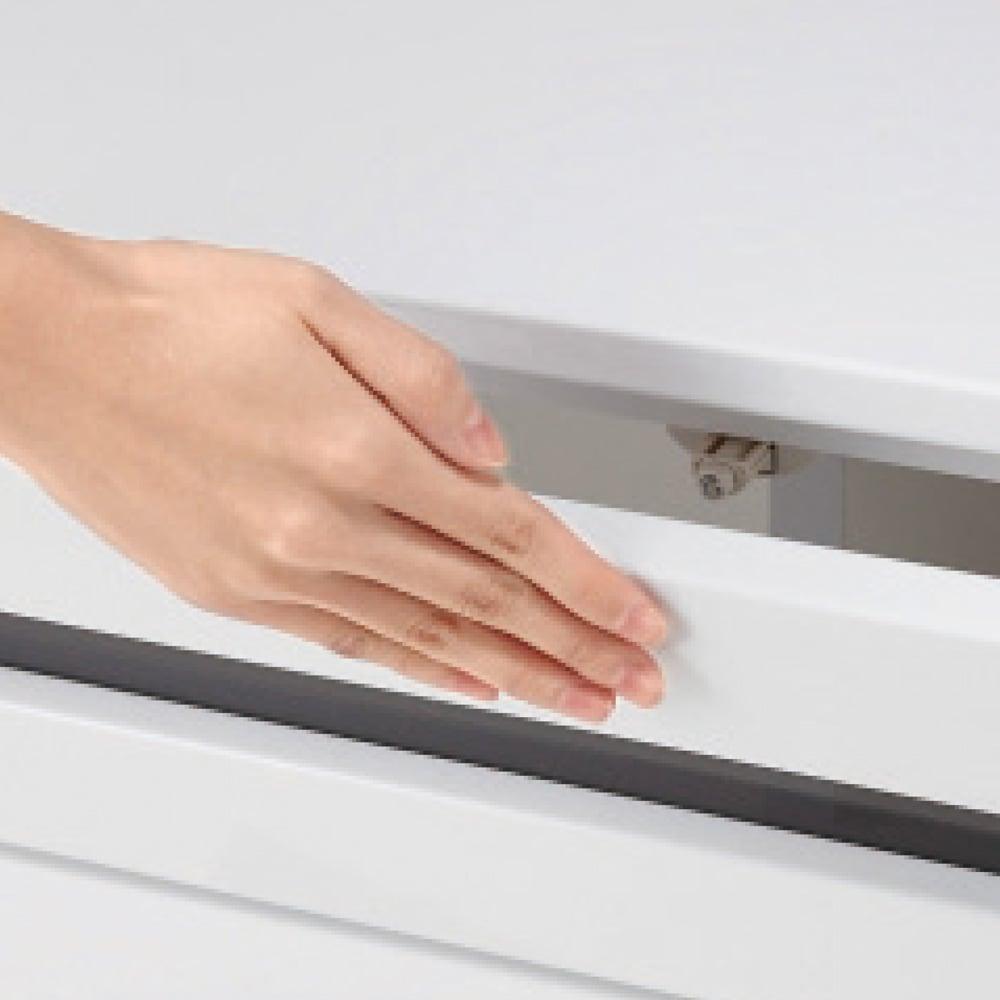 ラインスタイルハイタイプテレビ台シリーズ テレビ台・幅150cm 扉は押すだけで開くプッシュ式。