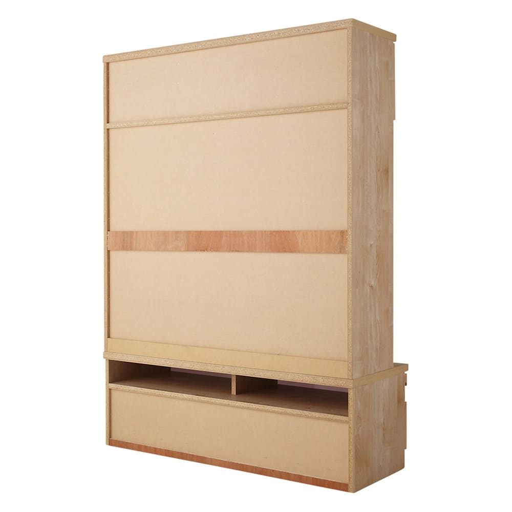 天然木調テレビ台ハイバックシリーズ テレビ台・幅100.5奥行45cm 背面 ※写真はテレビ台・幅120.5cmです。