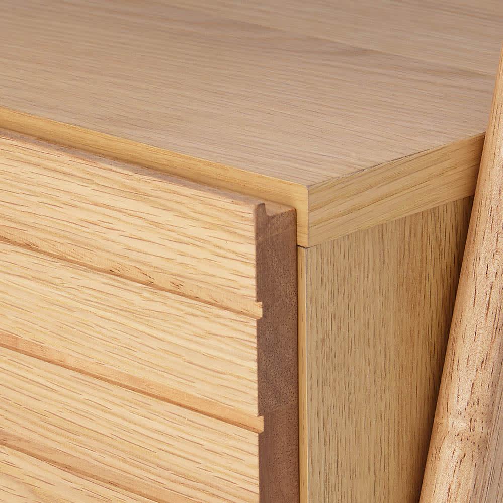 天然木シェルフテレビ台シリーズ テレビ台 幅110cm (ア)ナチュラル 素材はオーク天然木の突板です。