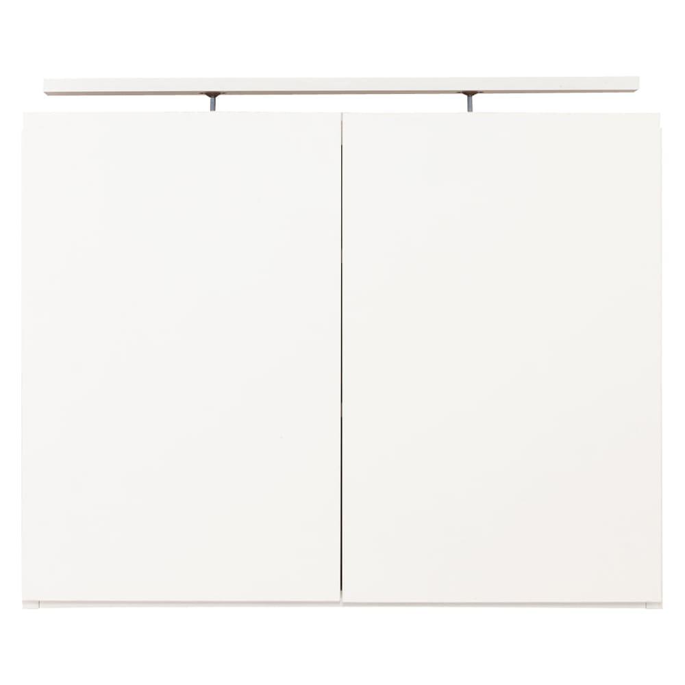 コーナーテレビ台壁面収納シリーズ オーダー対応突っ張り式上置き(1cm単位) 幅75cm・高さ51~78cm (ア)ホワイト