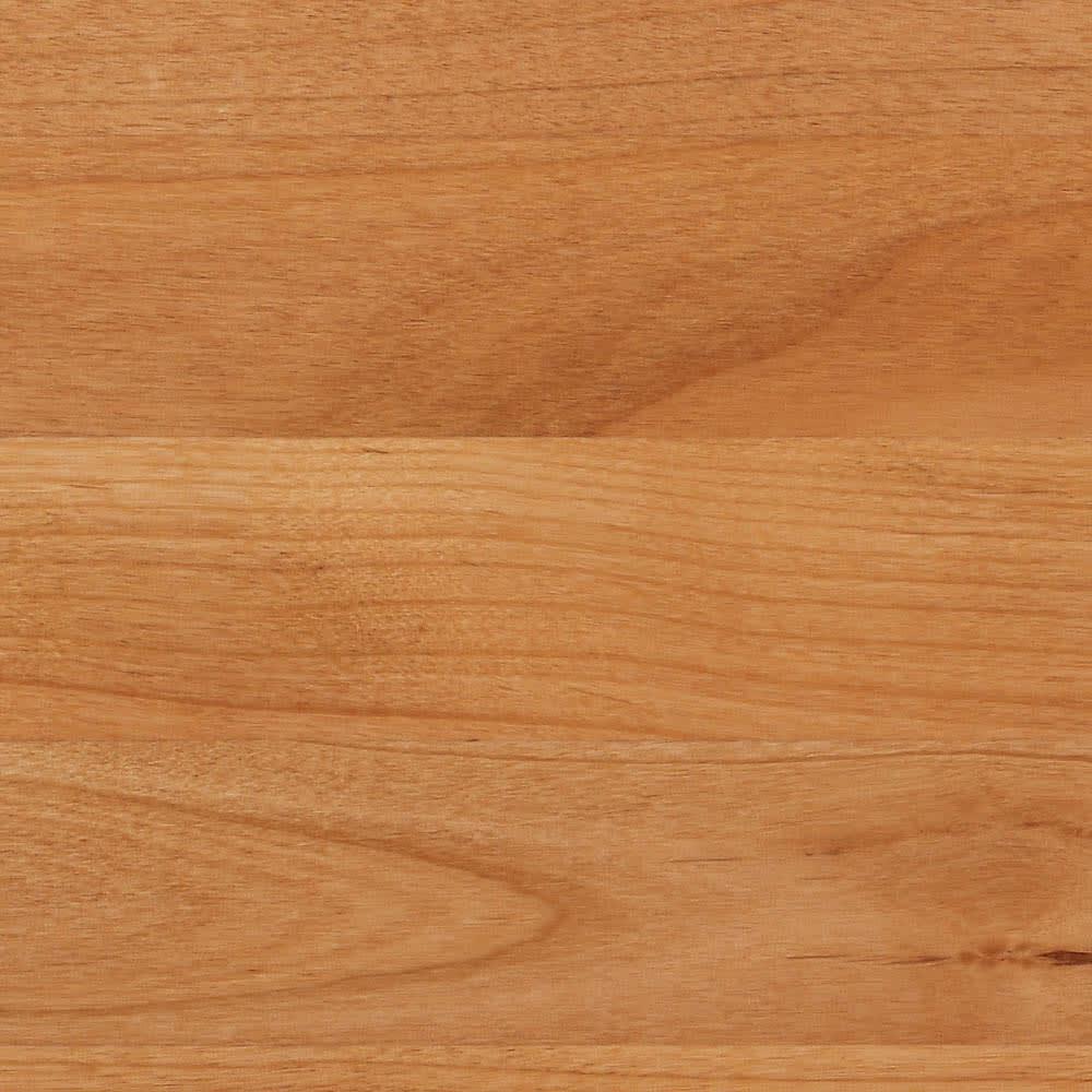 【ローチェスト】アルダー天然木ユニットボード キャスター付きキャビネット収納 幅135.5cm (ア)ライトブラウン板見本