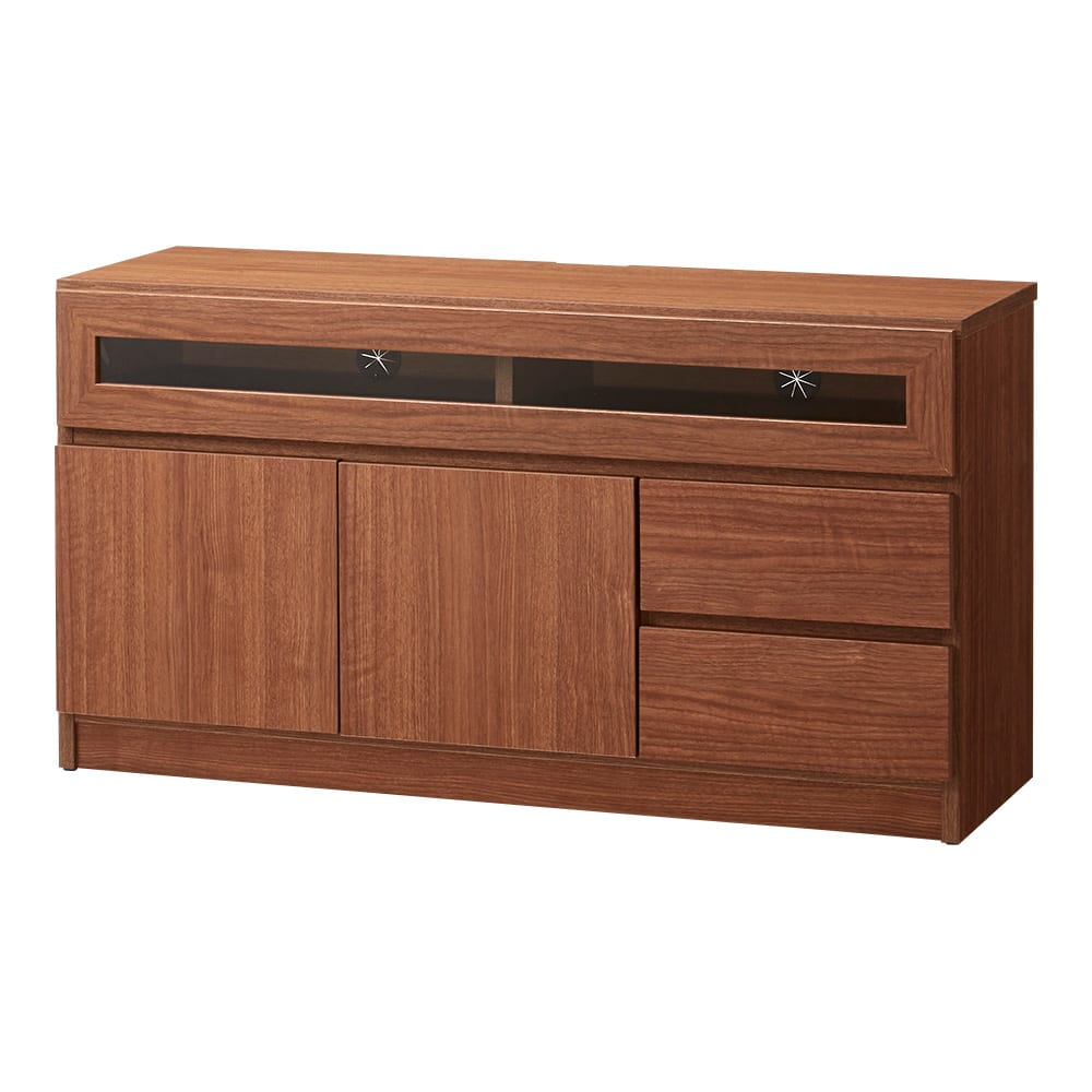 【完成品・国産家具】ベッドルームで大画面シアターシリーズ テレビ台 幅105高さ55cm (ウ)ダークブラウン