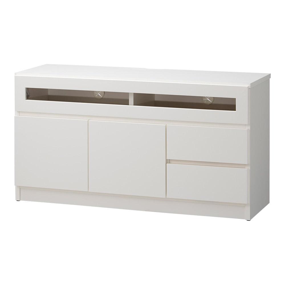【完成品・国産家具】ベッドルームで大画面シアターシリーズ テレビ台 幅105高さ55cm (ア)ホワイト