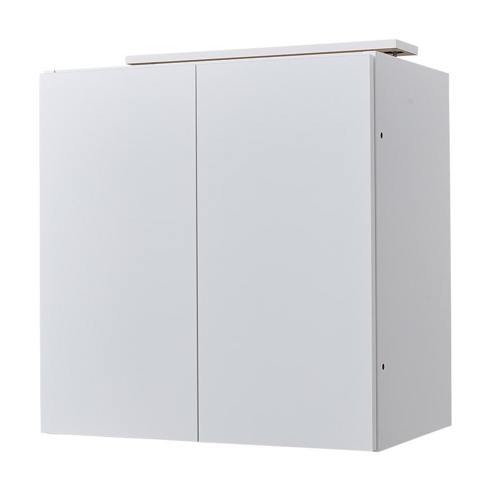 スイッチ避け壁面収納シリーズ 高さオーダー対応突っ張り上置き 奥行30cm 幅60cm・高さ30~80cm(1cm単位オーダー) (ア)ホワイト