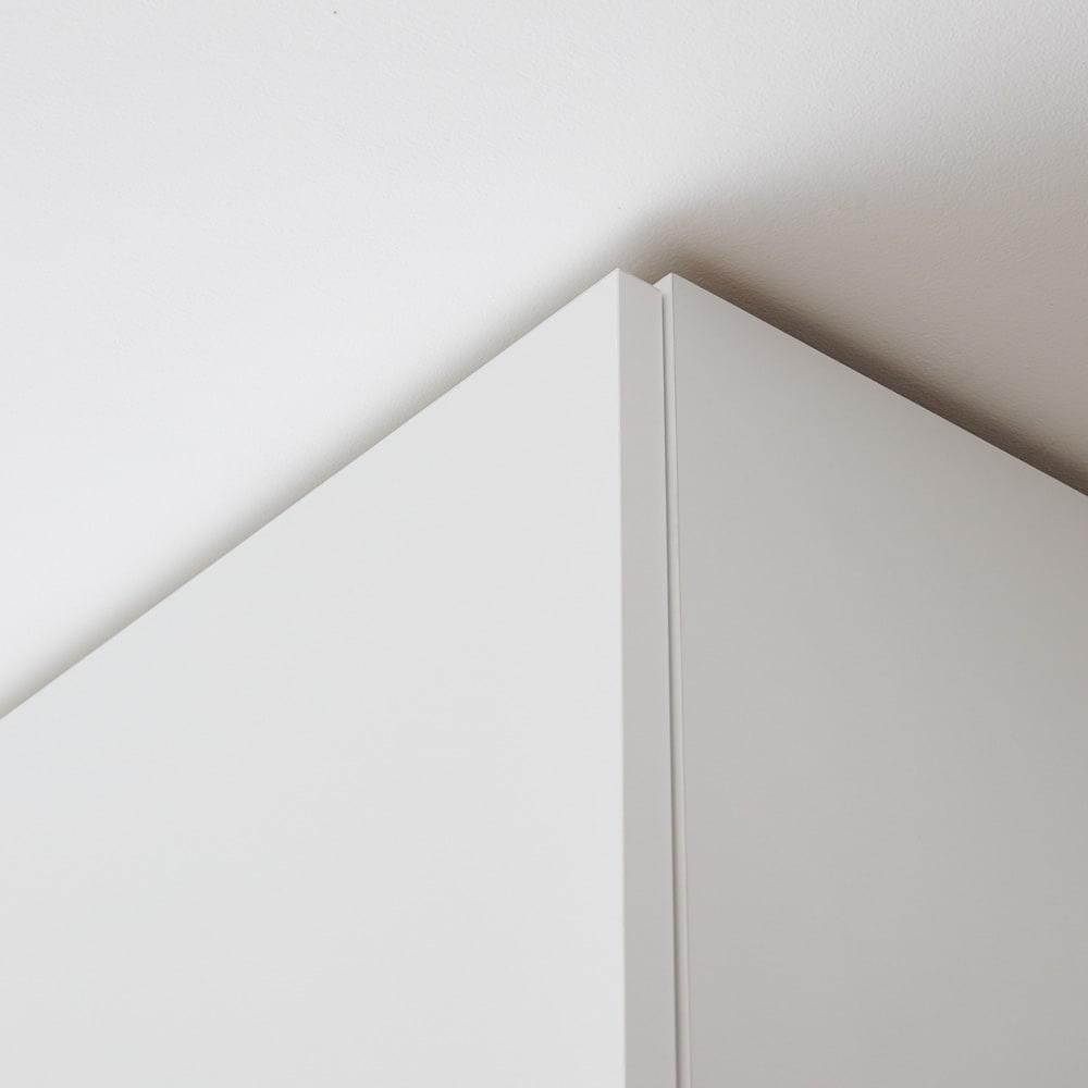 スイッチ避け壁面収納シリーズ 高さオーダー対応突っ張り上置き 奥行30cm 幅45cm・高さ41~60cm(1cm単位オーダー) 突っ張りは面で支え合うので安定感があります。