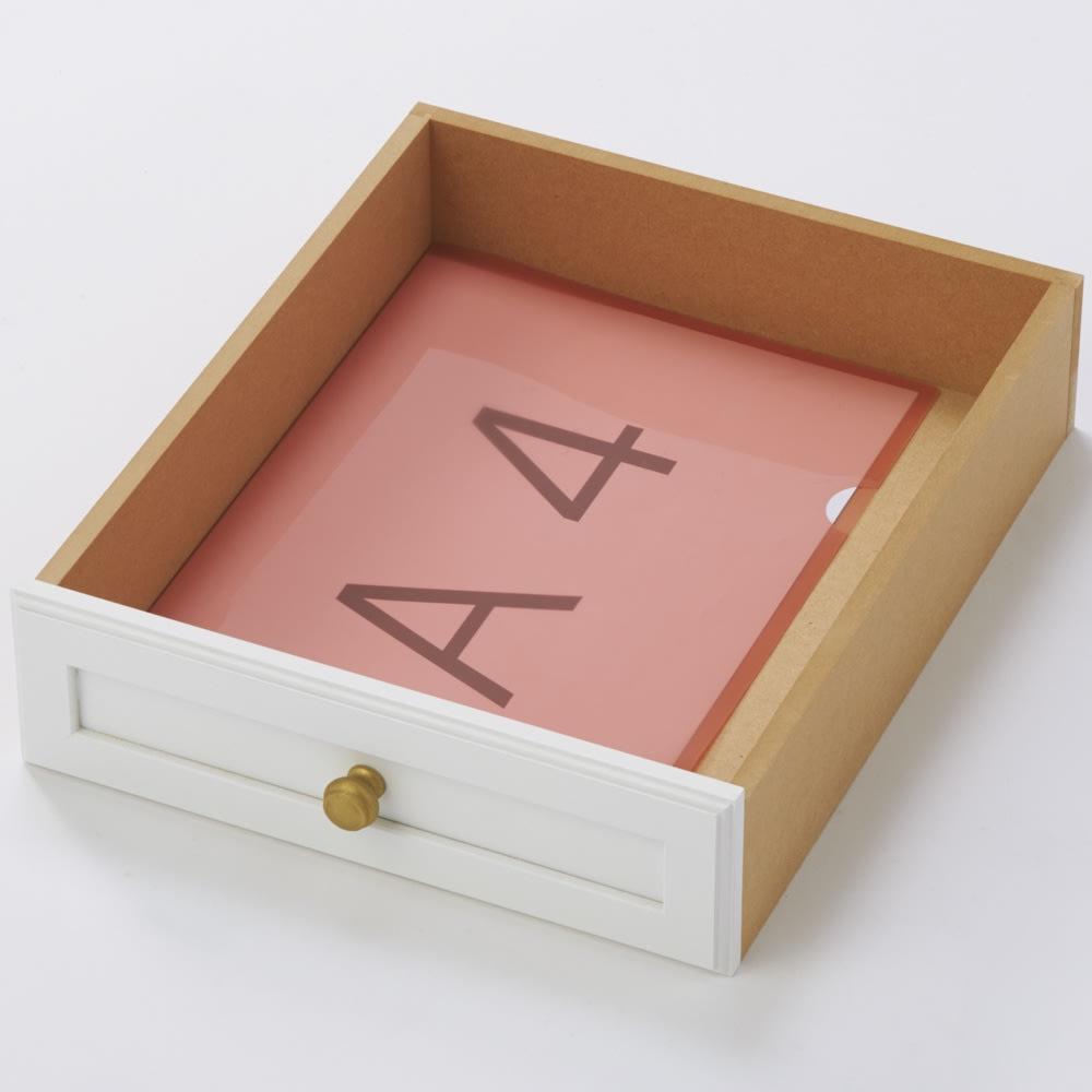 シャビーシック風書類多段チェスト チェスト6段 A4クリアファイルを収納可能。