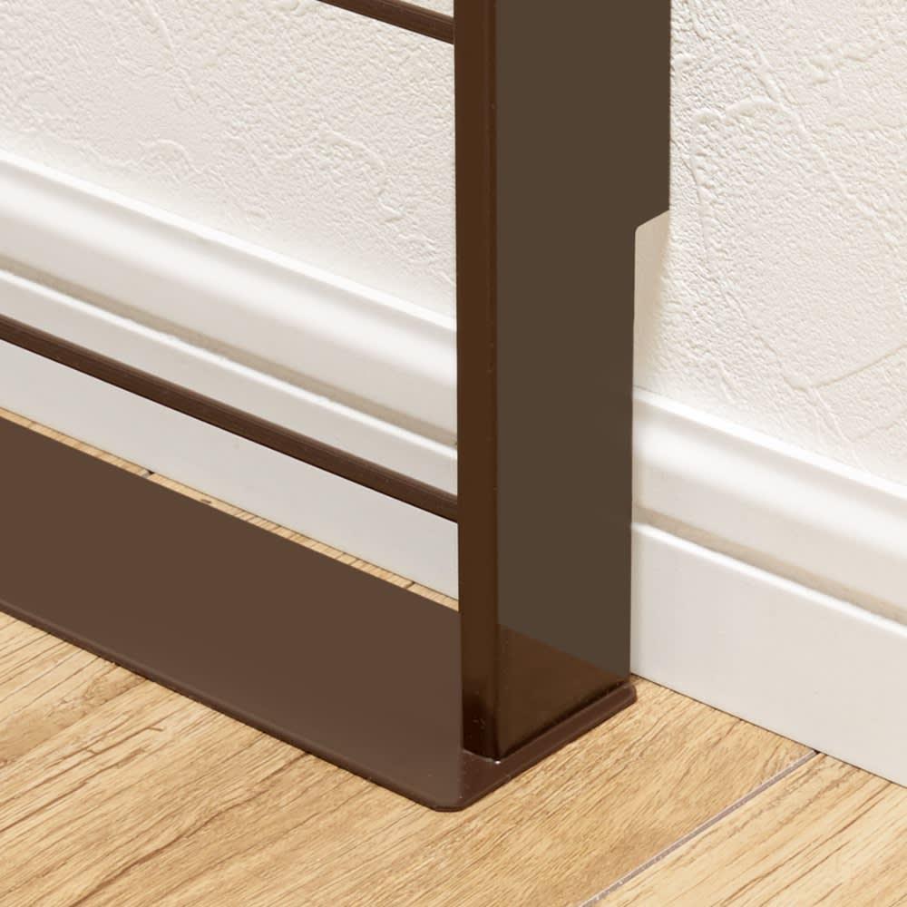 薄型ラックシリーズ 絵本・マガジンラック(幅45cm/幅59cm) 幅木をよける加工(10×1cm)で壁にぴったり!