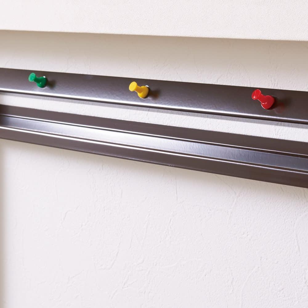 薄型ラックシリーズ 絵本・マガジンラック(幅45cm/幅59cm) 転倒防止のピンで、壁にしっかり固定。
