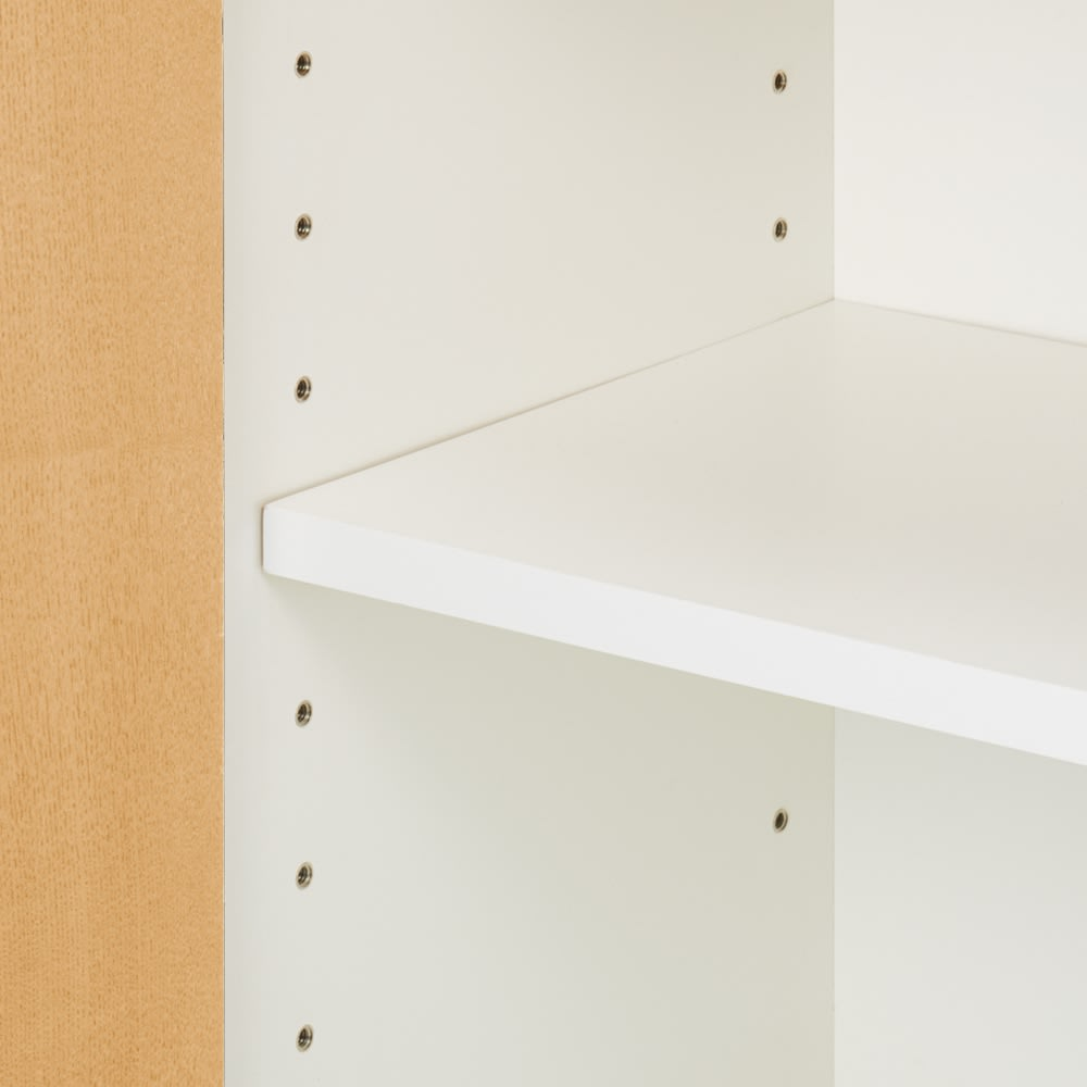 奥行35cm 北海道オーク材のコンパクトシリーズ キャビネット・幅80cm キャビネット内部には5cm間隔の可動棚板付き。