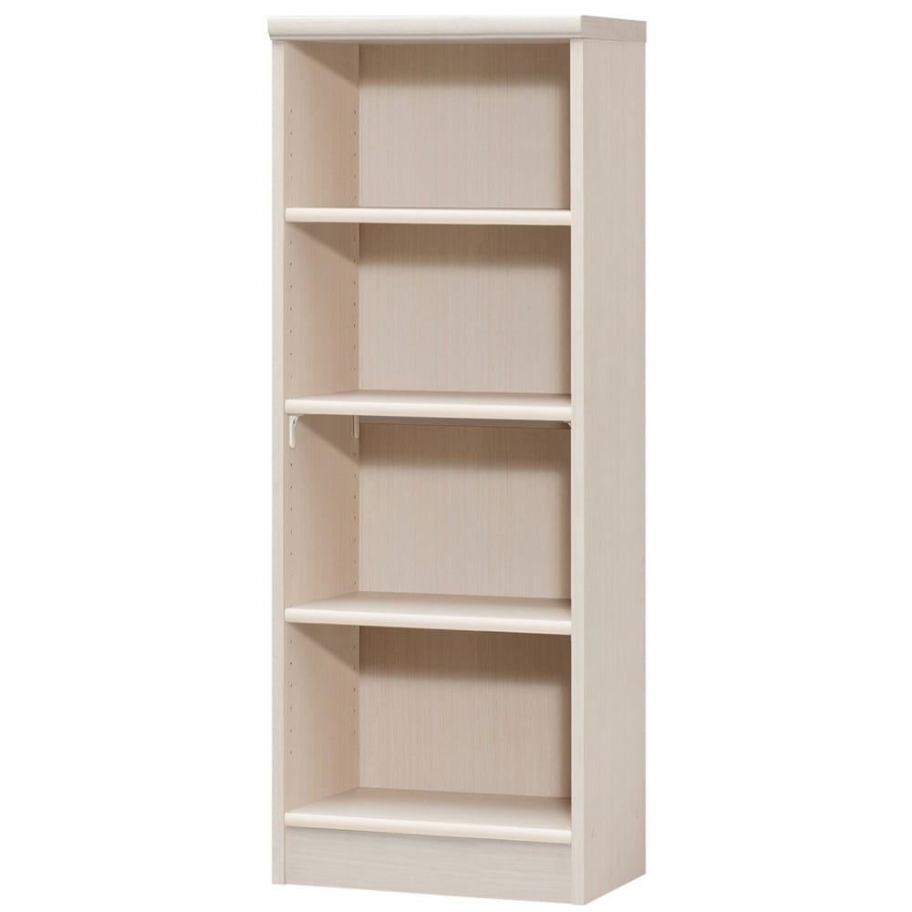 色とサイズが選べるオープン本棚 幅44.5cm高さ117cm (ア)ライトナチュラル