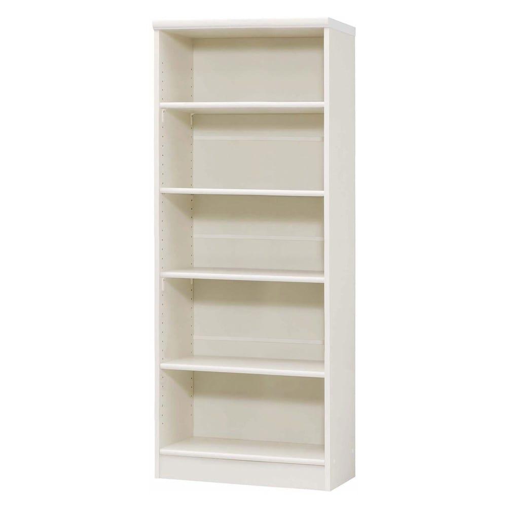 色とサイズが選べるオープン本棚 幅59.5cm高さ150cm 商品イメージ:(イ)ホワイト