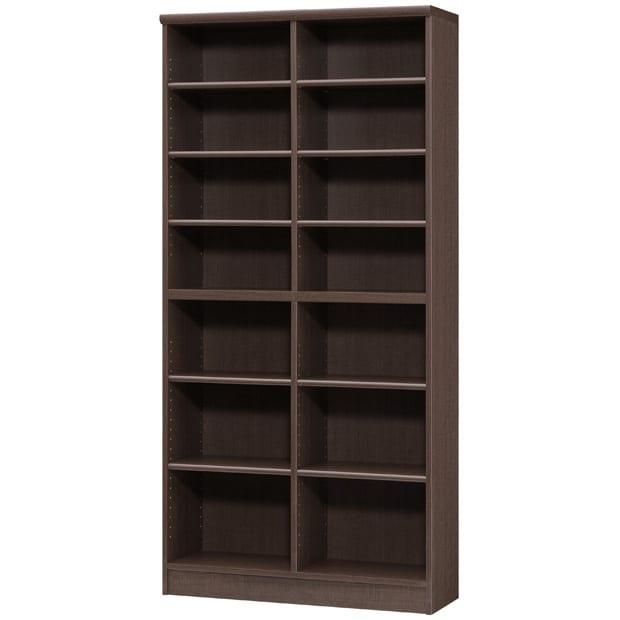 色とサイズが選べるオープン本棚 幅86.5cm高さ178cm (エ)ダークブラウン