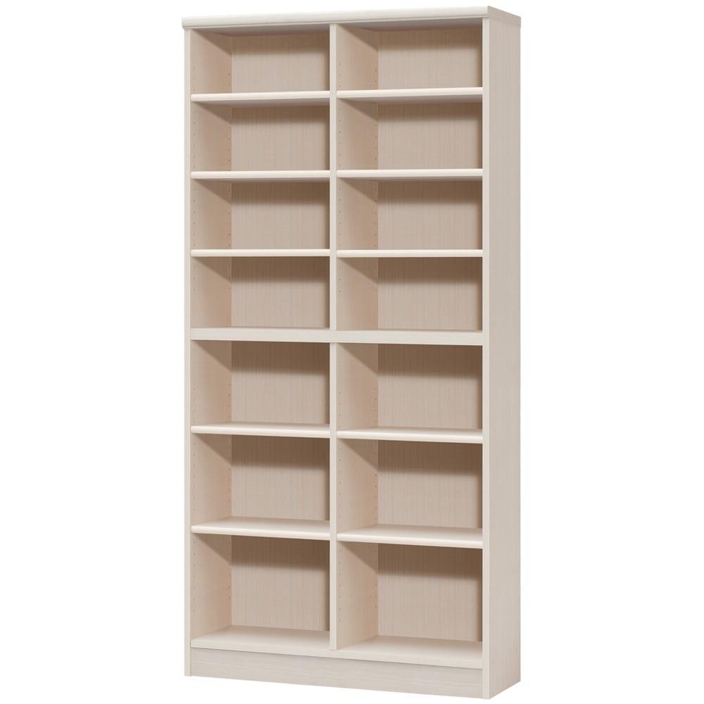 色とサイズが選べるオープン本棚 幅86.5cm高さ178cm (ア)ライトナチュラル
