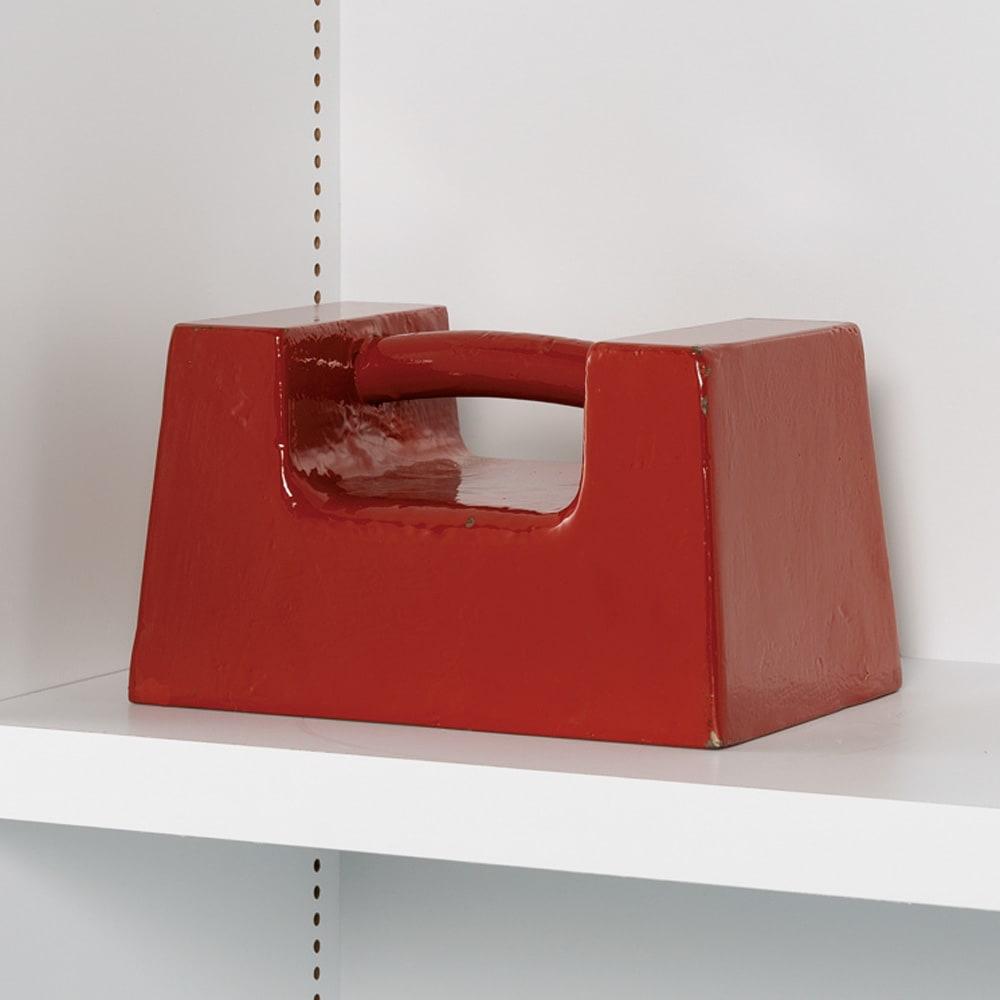組立不要1cmピッチ頑丈棚板本棚 扉タイプ 重い物も載せられる頑丈棚板。耐荷重は棚板1枚当たり20kg!(写真はイメージ)