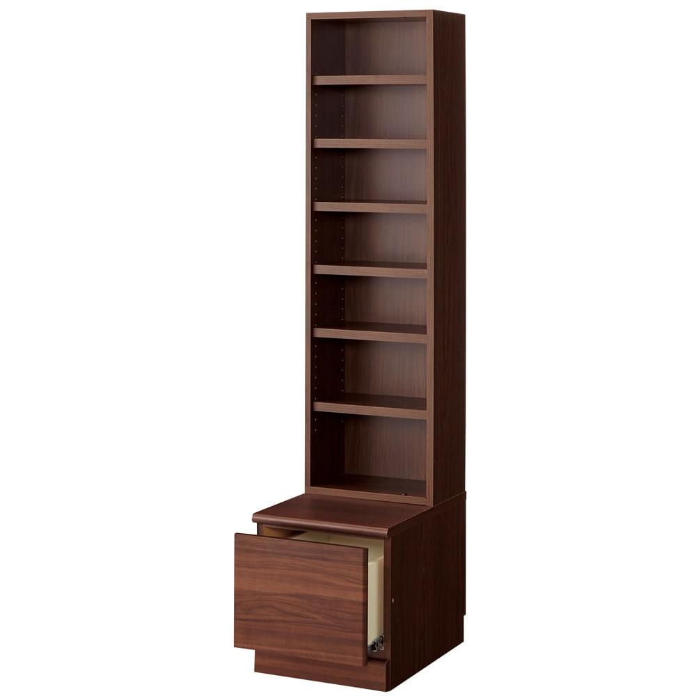 ベンチブックシェルフ 本体 幅116.5cm (イ)ダークブラウン(※写真は幅39.5cmタイプ)