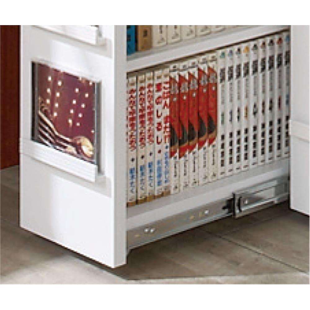 大容量収納!組立不要 スライド式すき間収納庫 ディスプレイタイプ 2列 お気に入りのCDを飾れるディスプレイタイプ。