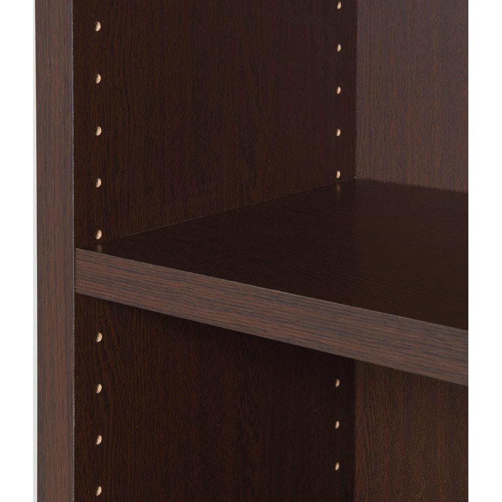 頑丈棚板がっちり書棚(頑丈本棚) ハイタイプ 幅80cm 棚板は本の高さに応じて3cmピッチで調節できます。