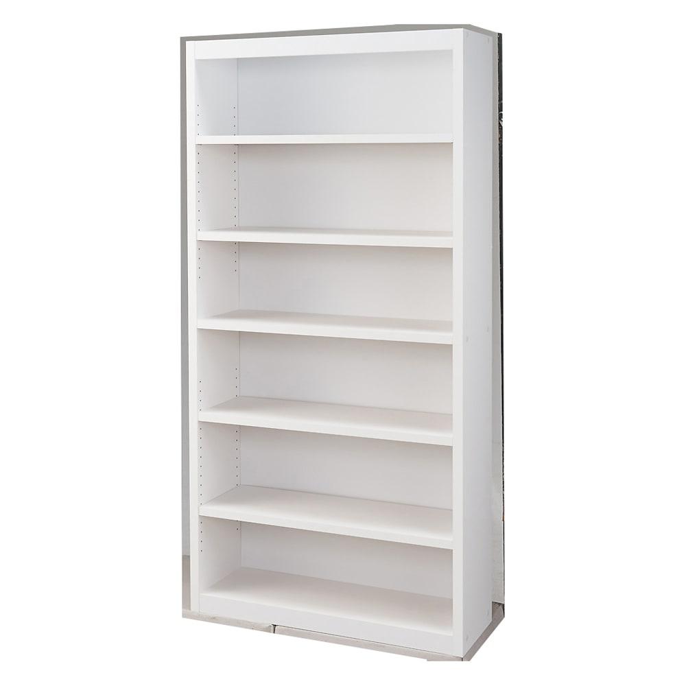 頑丈棚板がっちり書棚(頑丈本棚) ハイタイプ 幅90cm (ウ)ホワイト