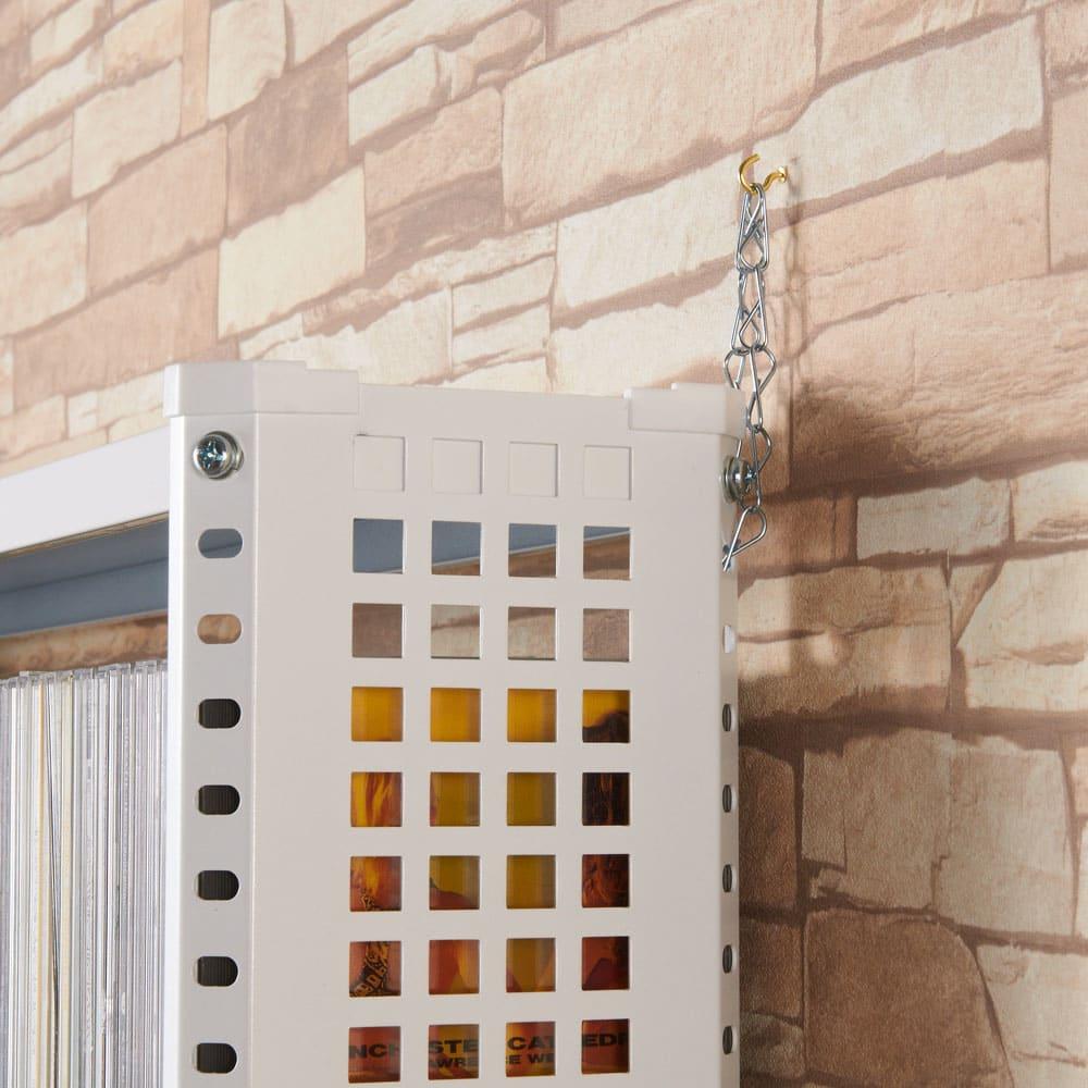 パンチングコミックラック スタンド式(奥行27・高さ183cm)コミック用 幅60.5cm 安全のため転倒防止金具がついております。