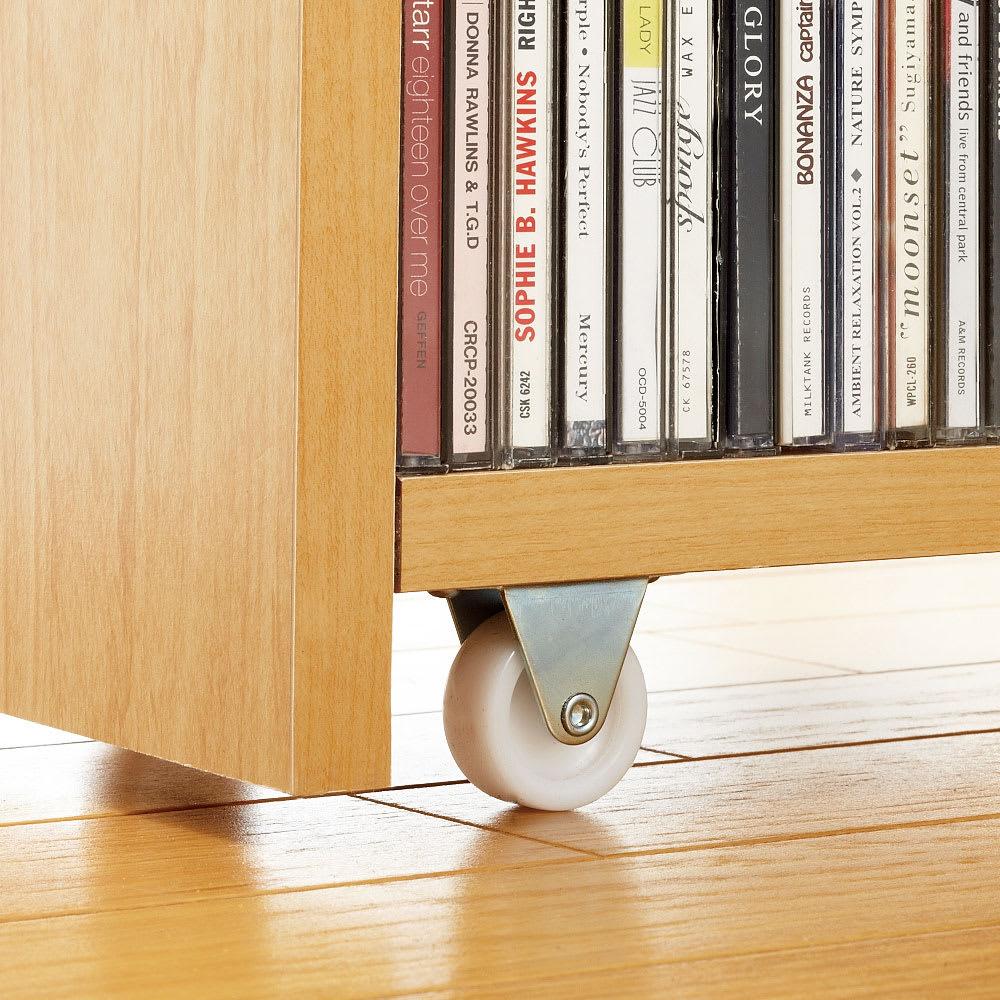 1cmピッチ スライド式すき間収納ワゴン単体 幅16cm (DVD収納&コミック・漫画本収納用) 大型キャスターでたっぷり収納しても軽い動き。