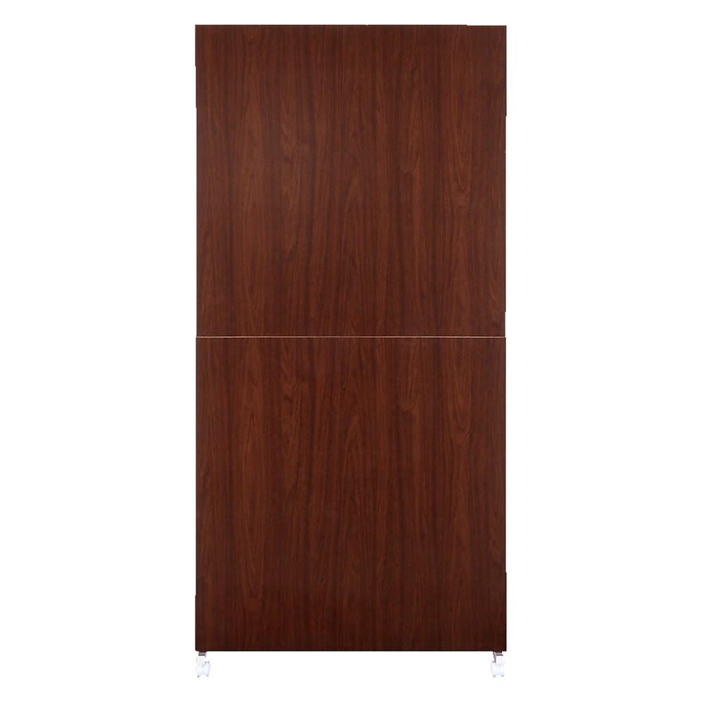 【空間を仕切りながら大量収納】キャスター付き間仕切り収納 棚板5枚 幅60cm (イ)ダークブラウン(裏:間仕切り面) ※写真は幅90cmタイプです。