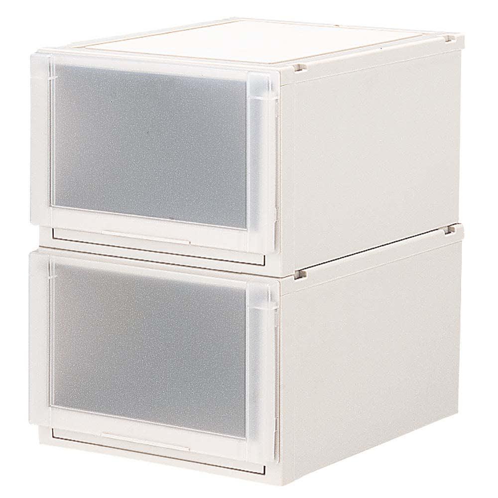 フィッツユニット(Fits unit)収納ケース2個組 【奥行55cmタイプ】幅45・高さ30cm プラスチック製収納ケースの定番品です。