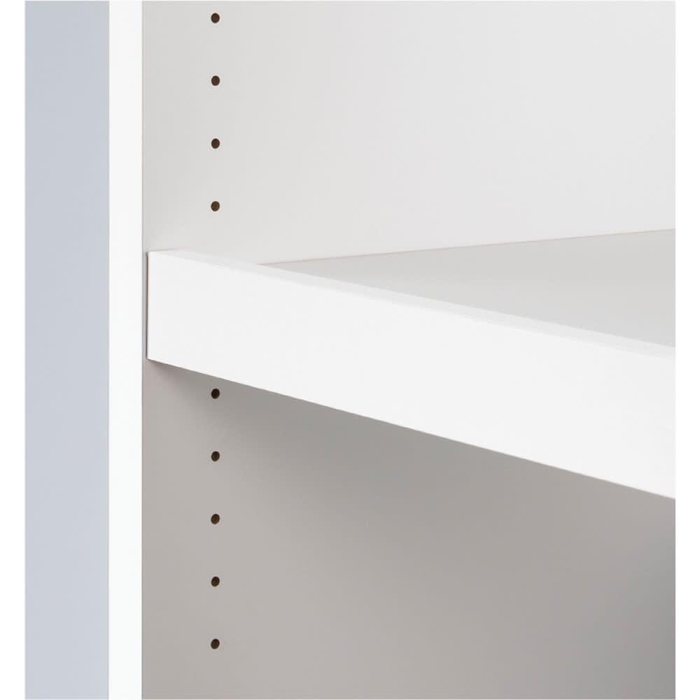 ウォークインクローゼット収納シリーズ 棚タイプ 幅30cm・奥行55cm 可動棚板は3cm間隔で高さの調節可能。