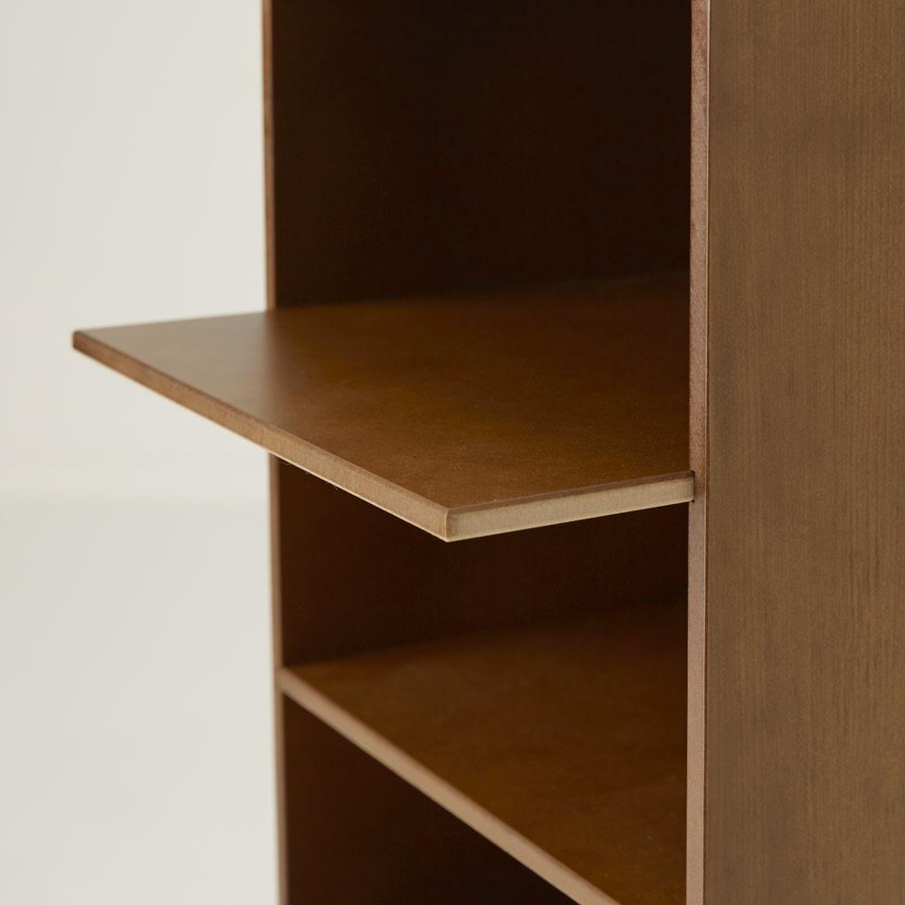 クローゼット収納シリーズ 奥行38cmタイプ オープン6段・幅30高さ90cm 棚板はスライドさせることができます