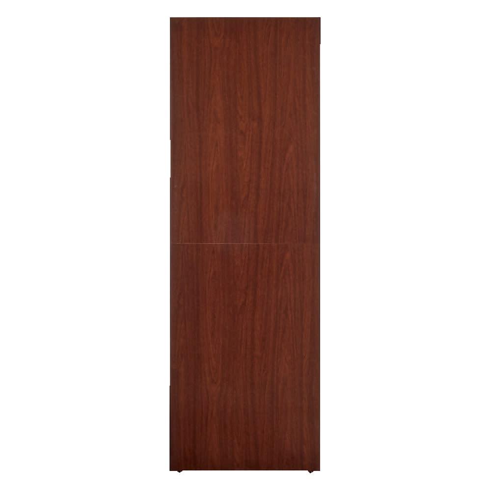 お手軽間仕切り パネル収納ハンガーラック 板タイプ 棚4枚 幅60cm (ウ)ダークブラウン(裏:間仕切り面)