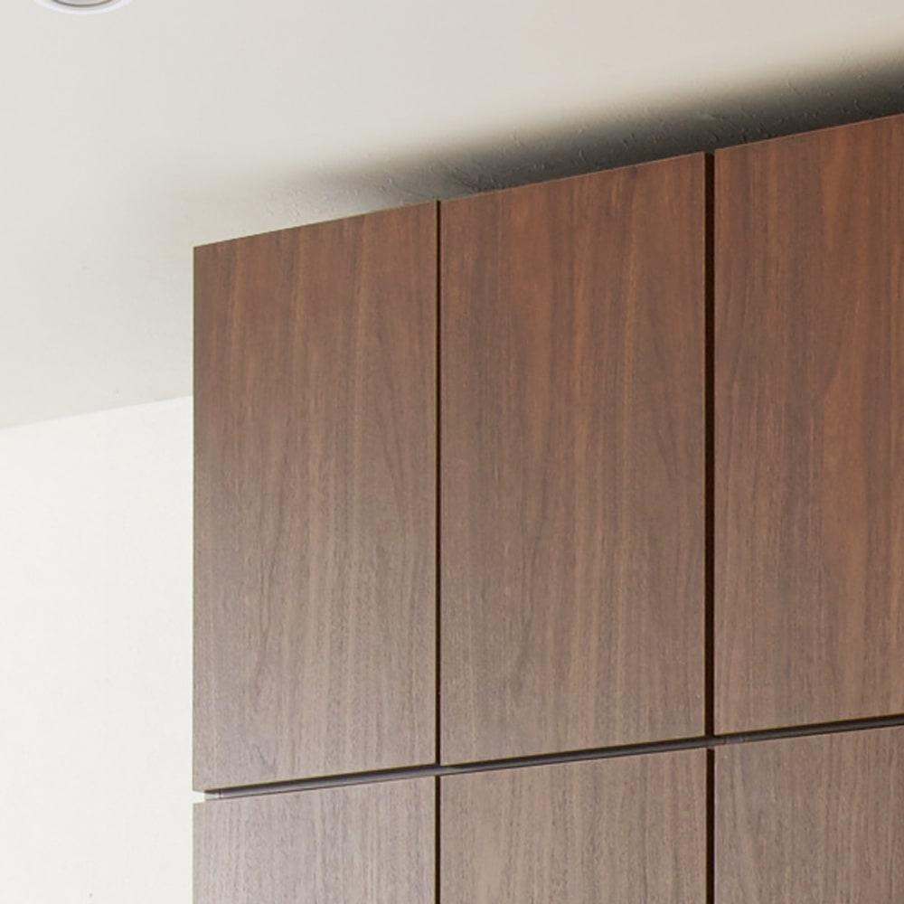 システム壁面ワードローブ 上置き・幅60高さ46cm (ウ)ブラウン