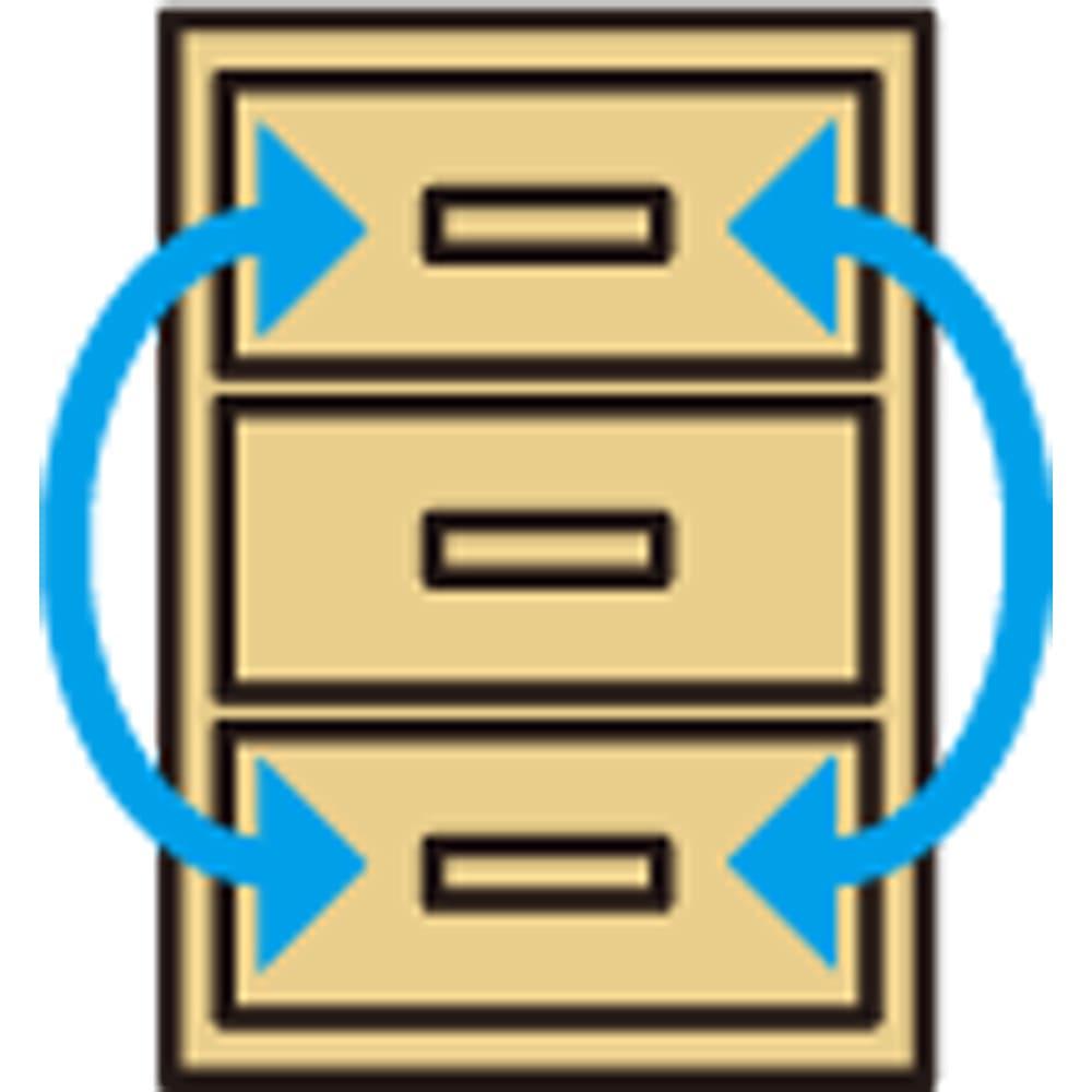 奥行30cm薄型ツヤツヤチェスト 幅50cm・6段 引き出し入替OK(小引き出しを除く)。