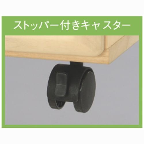 【衣類に優しい押し入れ収納】総桐スライドレール 押し入れタンス 4段ワイド 高さ69cm キャスター4個のうち2個ストッパー付き。