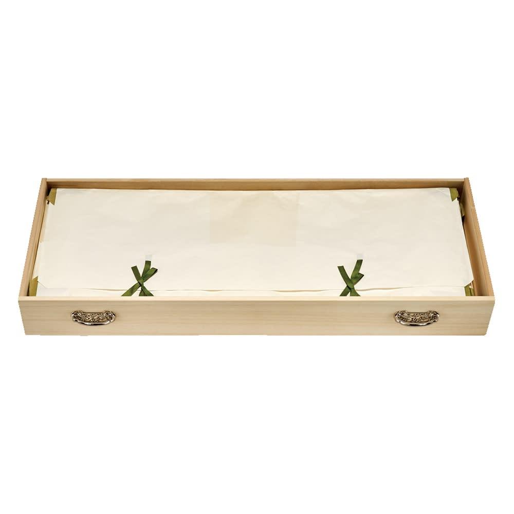 【キャスター付きでどこでも使える】総桐着物収納クローゼットワゴン 浅引き5段・高さ60.5cm 大判のたとう紙も折らずに収納できます。(内寸:93cm×37.5cm)