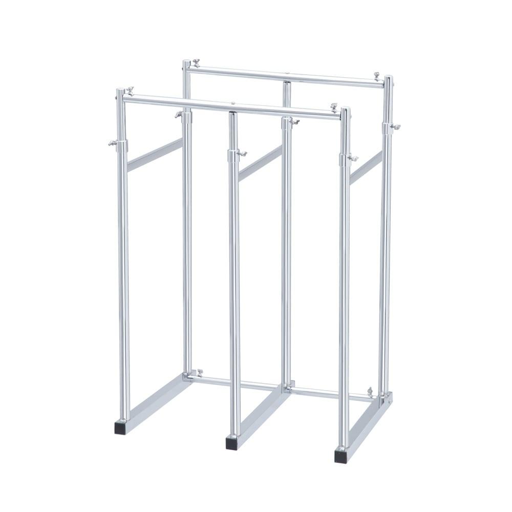 幅と高さが伸縮する 頑丈押し入れハンガー 半間用 幅60~100cm 幅60cm設定(最小幅)