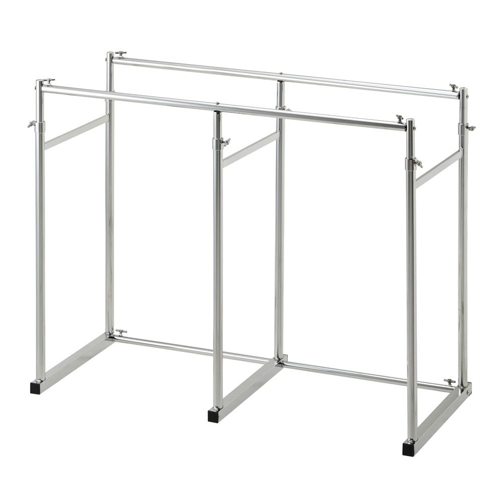 幅と高さが変えられる 伸縮式頑丈押し入れハンガー 一間用 幅110~180cm ※お届けする商品です。